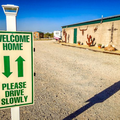 Office building at West Texas Friendly RV Park